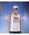 Witte heren tanktop italie