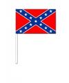 Zwaaivlaggetjes geconfedereerde staten van amerika 12 x 24 cm