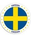 Zweden sticker rond 14 8 cm