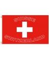 Zwitserland vlag met tekst