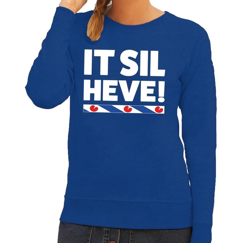 Blauwe trui sweater Fryslan Friesland vlag heren