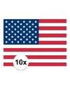 10x vlag usa stickers