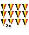 3x belgie vlaggenlijn slinger 5 meter