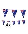 4x australie vlaggenlijn 3 5 meter