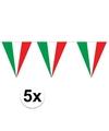 5 stuks italiaanse vlaggenlijn 5 meter