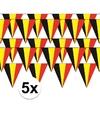 5x belgie vlaggenlijn slinger 5 meter