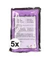 5x holi kleurpoeder paars