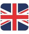 Glas viltjes met Engelse UK vlag 15 st
