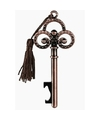 Bronzen sleutel flesopener 10 cm