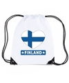 Finland hart vlag nylon rugzak wit