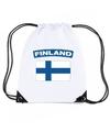 Finland nylon rugzak wit met finse vlag