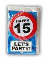 Happy Birthday leeftijd kaart 15 jaar