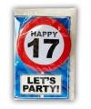 Happy Birthday leeftijd kaart 17 jaar