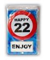 Happy Birthday leeftijd kaart 22 jaar