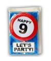 Happy Birthday leeftijd kaart 9 jaar
