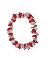 Bloemen slinger rood met wit