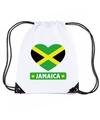 Jamaica hart vlag nylon rugzak wit