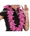 Thema feest Hawaii krans roze