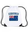 Nieuw zeeland nylon rugzak wit met nieuw zeelandse vlag