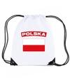 Polen nylon rugzak wit met poolse vlag