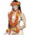 Rode Hawaiiaanse bloemenslinger