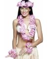 Roze Hawaiiaanse bloemenslinger