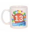 13e verjaardag cadeau beker / mok 300 ml