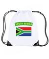 Zuid afrika nylon rugzak wit met zuid afrikaanse vlag