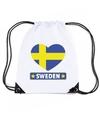 Zweden hart vlag nylon rugzak wit