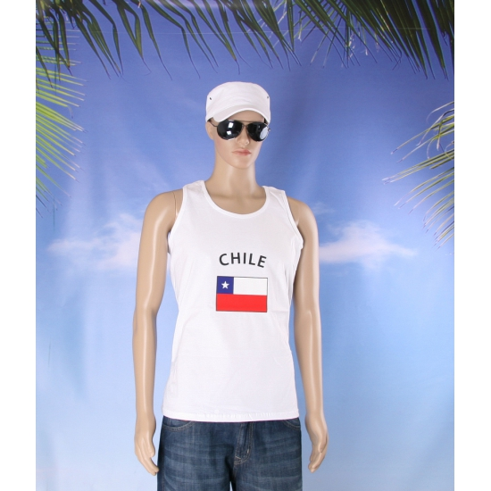 Witte heren tanktop Chili